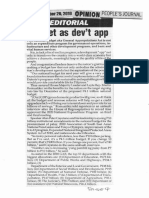 Peoples Journal, Sept. 26, 2019, Budget as devt app.pdf