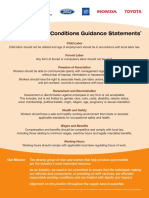 Global Working Conditions Guidance Statements