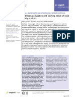Addressing Education and Training Needs of Road Safety Auditors