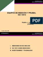 MTY10 - Equipos de Medición y Prueba ISO 10012