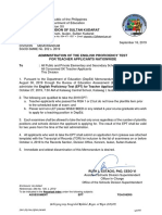 DM_SGOD-SMME No. 202, s. 2019 (Administration of EPT for Teacher Applicants)