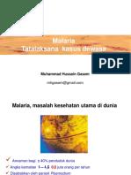 MALARIA Tatalaksana Dewasa Pwt Pbg 2019