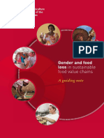 Gender and food  loss in sustainable food value chains