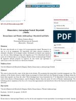 Biomecánica y Antropología Teatral