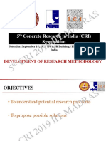 5th CRI 2019 IITM - Problems and Possibilities