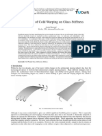 The Effects of Cold Warping on Glass Stiffness