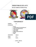 INFORME TIAHUANACO