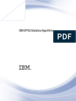 IBM SPSS Statistics Algorithms