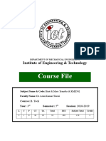 FORMAT FOR COURSE FILE
