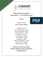 Operations Management Final Report