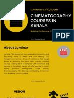 Cinematography Courses in Kerala- Luminar Filim Academy