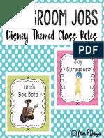 Disney Classroom Roles Jobs Cards