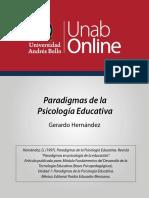 paradigmas de la psicología educativa