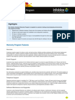 Infoblox Datasheet Standard Warranty Program 0