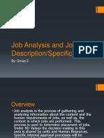 Job Analysis and Job Description
