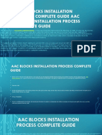 AAC Blocks Installation Process Complete Guide AAC