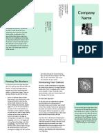 Tri Fold Business Marketing Brochure