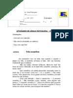 Nome_ n.º 4ª Série Atividades de Língua Portuguesa 4ª Série. Três Conselhos - PDF