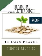 Prayer for financial break