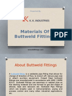 Materials of Buttweld Fittings