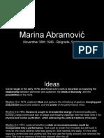 Marina Abramovic PowerPoint