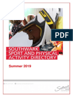 Southwark Sport and Physical Activity Club Directory Spring 2019