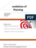 Foundations of Planning for Better Management