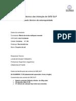Laudo Técnico Das Intalação de GÁS GLP...