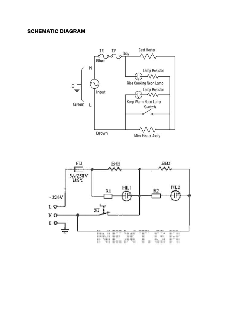 wiring 20 250v schematic schematic diagram  rice cooker  doc thermostat switch  schematic diagram  rice cooker  doc