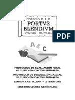 Evaluacion Inicial Lengua 4º y 5º Completo