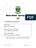 mission module - learning booklet 2019