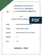 Informe 03 de Espectrofotometria
