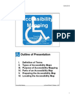 Handouts for Accessibility Mapping