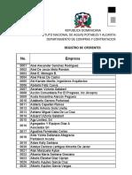 Listado de Ofrerentes Habilitados Sorteo de Obra - Inapa - Ccc-so-2019-0001