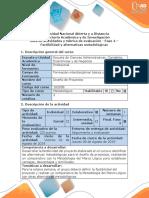 Guía de Actividades y Rúbrica de Evaluación - Fase 4 - Factibilidad y Alternativas Metodológicas