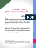 AS RUBRICAS HILSTIANA