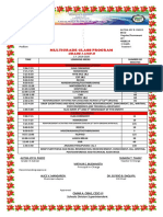 Alyssa Class Program 2019-2020