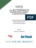 Voto Electronico - Un Aporte Tecnico-cientifico a La Reforma Electoral