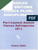 Lógicas Del Síntoma Logica Pluridisciplinaria- Assoun y Zafiropoulos