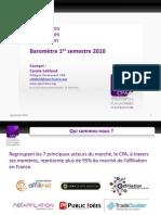 Chiffres de l'Affiliation Premier Semestre 2010