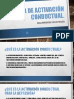 Activación conductual.