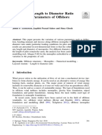 Influence of Length to Diameter Ratio on Strength Parameters of Offshore Monopiles