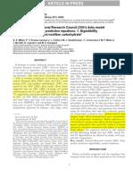 Evaluación del Consejo Nacional de Investigación (2001) modelo de lácteos y derivación de nuevas ecuaciones de predicción. 1. La digestibilidad de la fibra, grasa, proteína y carbohidratos sin fibra