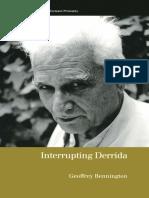 BENNINGTON, Geoffrey. Interrupting Derrida