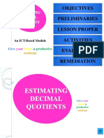 Estimating Decimal Quotient Cot 2nd Quarter