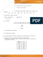 TALLER DE ESTADISTICA 4... MEDIDAS DE DISPERSION..docx