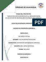 Proyecto Costo-beneficio Evelyn Madrid