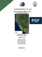 Informe Del Sismo de Mala, Canete - Lima