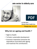 Role of Private Sector in Elderly Health Care