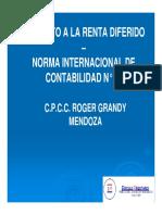 Impuesto a La Renta Diferido NIC 12 Roger Grandy